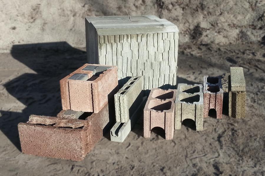 Diverse Steine aus dem Rau-Bausystem