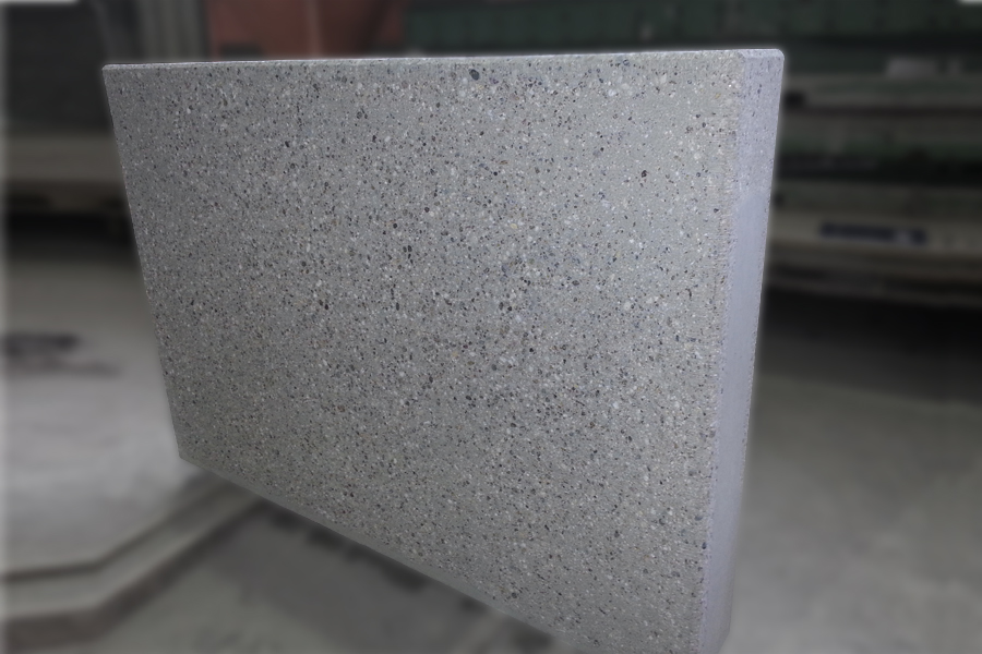 Gestockte Betonoberfläche grau
