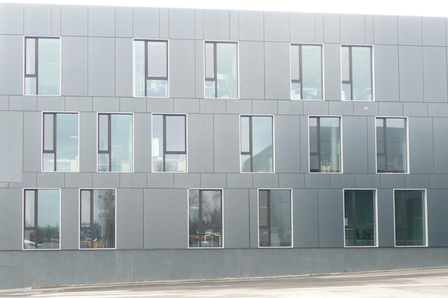 Fassadenplatte koloriert