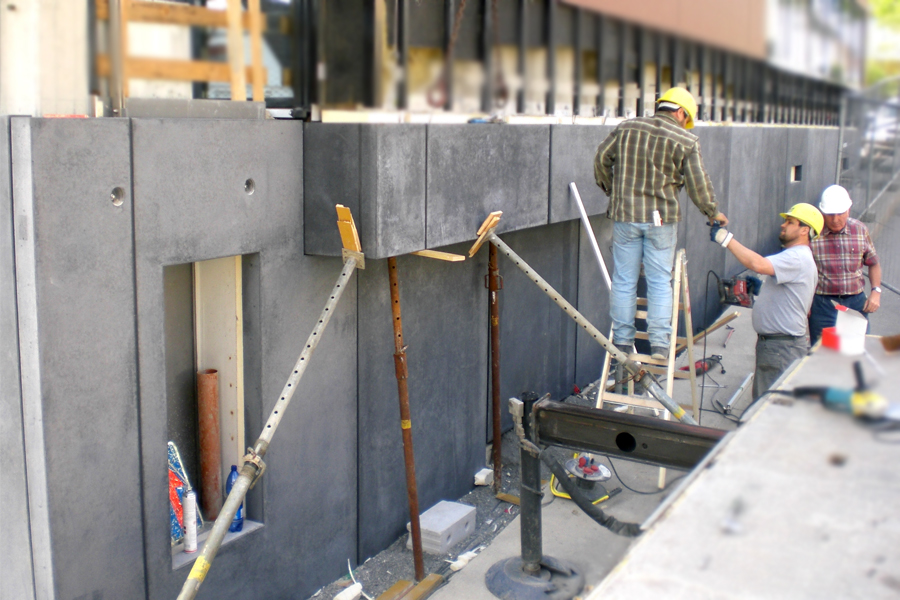 Fassadenplatten Montagezustand