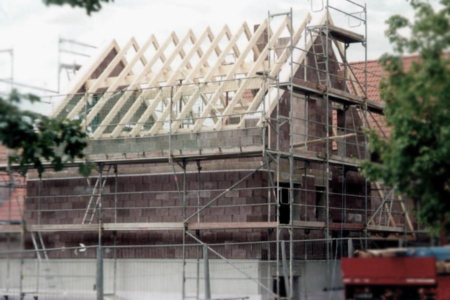 Einfamilienhaus Gäufelden Außenwand mit Typ R 30 Super Plus 10