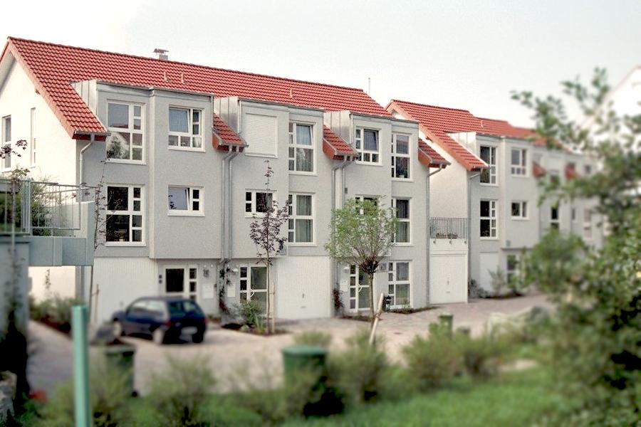 Reihenhausanlage in Bondorf erbaut mit Rau-Bausystem