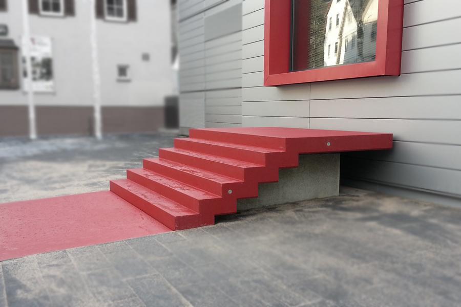 Falttreppe beschichtet ENCW-Calw